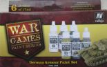 VAL70155 WWII Wargames - German Armour Paint Set (x6)